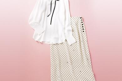 IÉNA「ドットスカート」と「リボンタイシャツ」を計8名様にプレゼント!
