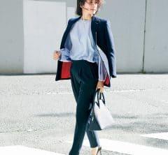 会議がある日のジャケットスタイル【紺ブレ】[2/25 Tue.]