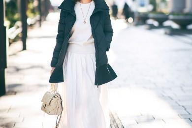 【街のオシャレ40代SNAP! Feb14th】白のワントーンならパッと華やぎます