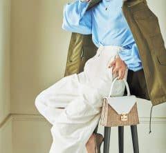 【白パンツ】を今っぽく着る色あわせ[3/31 Tue.]