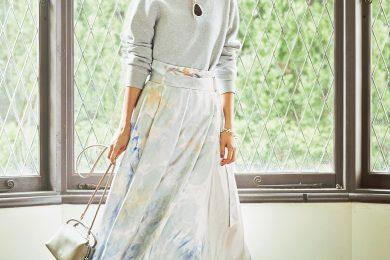 春色プリントの【スカート×スニーカー】でお出かけ[3/28 Sat.]