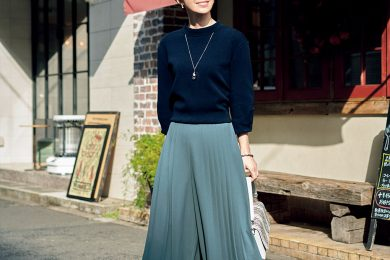 【日めくり7days⑦Sun】大好物プリーツがパンツに!スカート見えするデザインでアクティブ&エレガンスが叶います