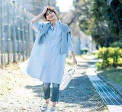 買い出しは楽でおしゃれな【ロングシャツワンピース】[4/26 Sun.]