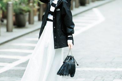 ボーダーで女らしく【モノトーンファッション】[4/28 Tue.]