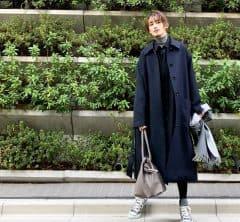 武藤京子ブログ「NAVY×GRAY でコーディネートした 先日のお洋服です。」