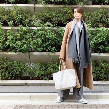 武藤京子ブログ「数年前に購入したストール、今更ヘビロテ」