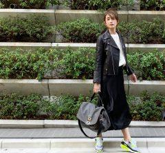 武藤京子ブログ「買ったばかりの @ZARA のサテンスカートでコーディネート」