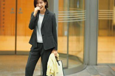 【日めくり7days⑤Fri】定番色のセットアップはマニッシュな装いで新鮮に見せて