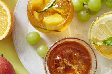 初夏のティータイムにぴったりな、フルーツが香る水出しアイスティー