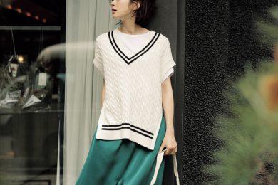 【ツヤ】スカートはTシャツを合わせてカジュアルダウンした普段着に[5/11 Mon.]
