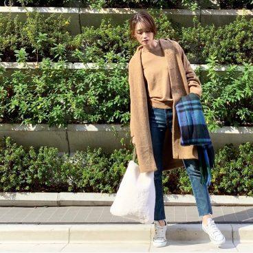 武藤京子ブログ「CAMEL×BLUE×WHITE で 先日のお洋服」