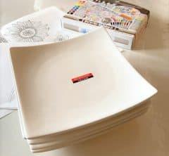 ダイソーの白い食器がキャンバスに #おうち時間