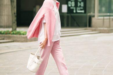 【街のオシャレ40代SNAP!June①】大人のピンクをかっこよく着る方法あります