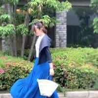 【Tシャツ×カラースカート】で休日のコーディネート♡