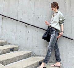 武藤京子ブログ「上下くすみカラー でコーディネート」