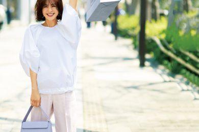 【ボリューム袖】はテーパードなセンタープレスパンツで品よくすっきり[7/25 Sat.]