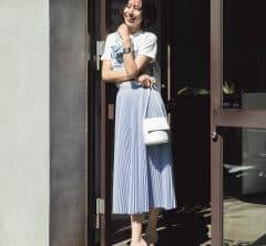 【真っ白なバッグ】をポイントにすれば上品さがグッと増す[7/26 Sun.]