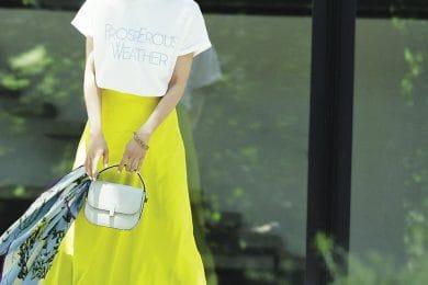 今日から8月!鮮やかな【カラースカート】で夏を満喫します[8/1 Sat.]