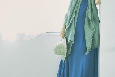 【ロイヤルブルーとミントのひんやりコーデ】で残り少ない8月を目一杯楽しむ[8/24 Mon.]