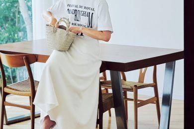 【カジュアルなブラウンのキャップ】でオール白の着こなしが格段にこなれます[9/2 Wed.]