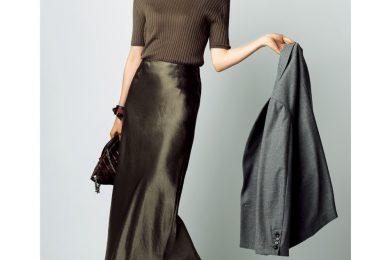 "秋ファッション、 40代的""注目素材""は「ベロア&サテン」!"