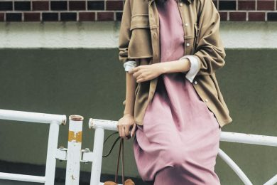 【キャメル×ピンクの大人配色】でご近所コーデがひと味替わる[10/10 Sat.]