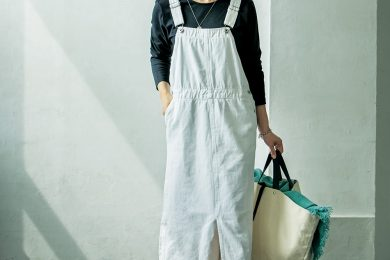 カーペンター風【ロングジャンパースカート】も白だったら挑戦できそう[9/16 Wed.]