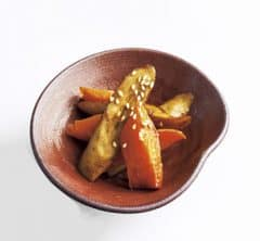 ごぼうとにんじんの蒸し煮 バルサミコ風味【プロに聞いたお家ごはんレシピ】