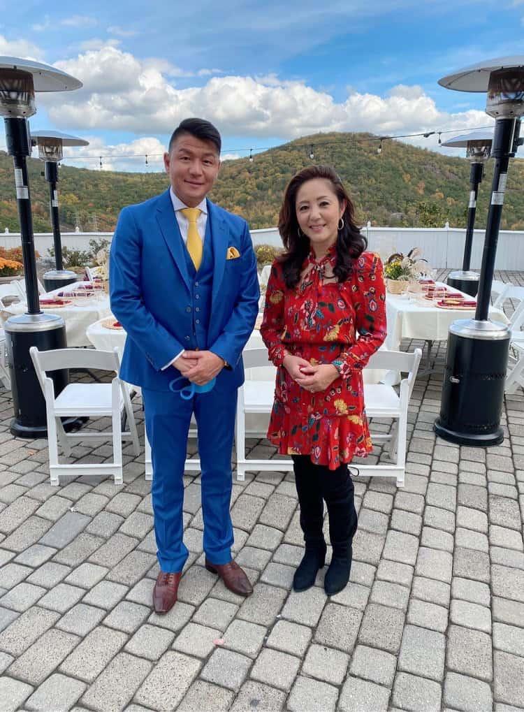 主催者の料理家ひでこコルトン先生と 会場のレストラン Mt.Fujiオーナーの多田さん