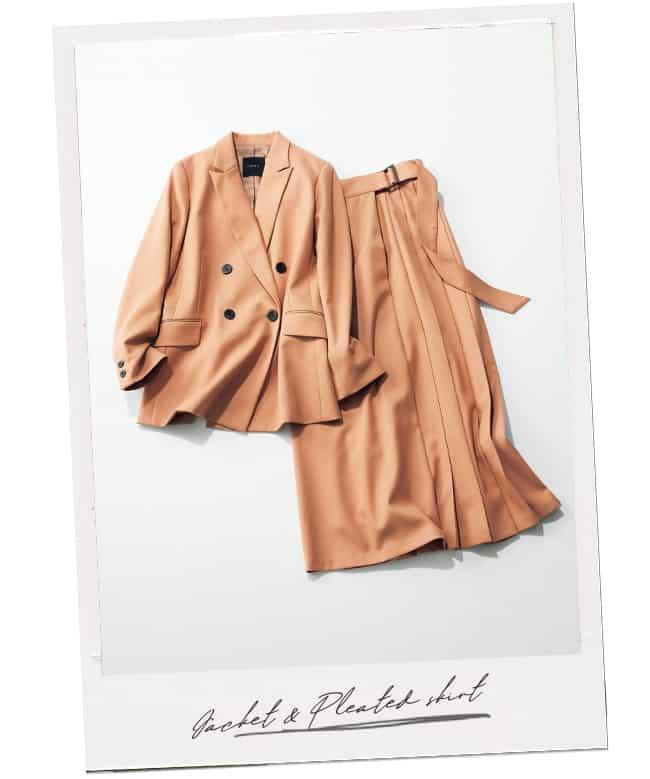 N.O.R.Cのジャケット&変形プリーツスカート