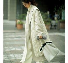 ご近所周りでもオシャレ!さっと羽織れるトレンドの「部分キルティングコート」4選