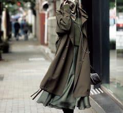 【カーキワントーン】はスカーフマスクで上級者見え[1/3 Sun.]