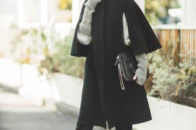 【真冬の防寒オシャレSNAP!⑦】パンツスタイルに合う「ケープコート」オススメです