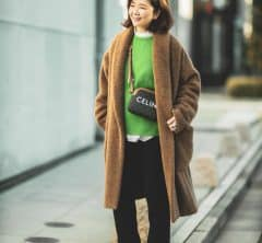【真冬の防寒オシャレSNAP!⑤】大人のフワモココートは、この冬選んで間違いなし!