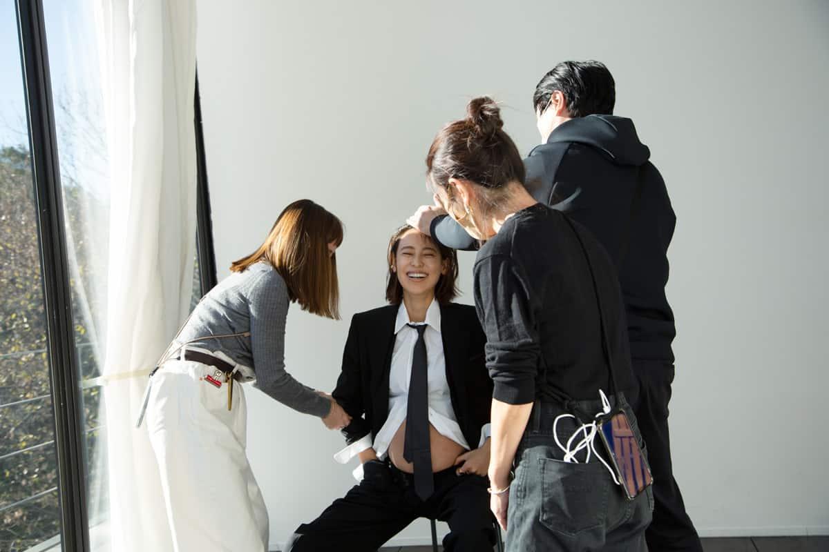 小泉里子さんマタニティ企画メイキング