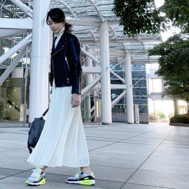 少し薄着の日「防寒」と「はずし」を兼ねて スポーツ用レギンスをイン 武藤京子ブログ