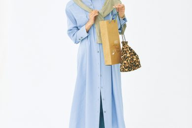 春の流行カラー・ライトブルーの「春ワンピ」着まわし術!