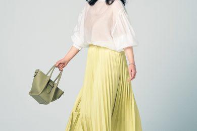 マシュマロさんにおすすめ!春の出勤にぴったりな華やか印象のプリーツスカート
