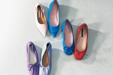 ヒール靴に戻れなくても、女らしさはキープできる「ぺたんこパンプス」春カタログ