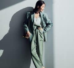 気合いを入れたい月曜日は優しいグリーンのジャケットスタイルで![4/5 Mon.]