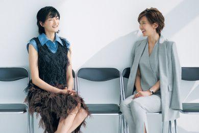 モデル冨永 愛さん✖️キャスター徳永有美さん対談「壁はいつも前にあるけれど、 やっぱり仕事は好き」