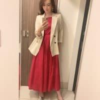 MARIHAのワンピースにジャケットを合わせて♡