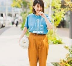 【ユニクロ春SNAP!】スタイリストMaiKo yoshidaさんはロゴTをアクセや小物で大人のカジュアルに