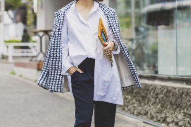 【ユニクロ春SNAP!】スタイリスト竹村はま子さんの全身プチプラでも高見え「+Jのシャツ」使い!