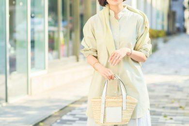 【ユニクロ春SNAP!】スタイリスト入江未悠さんは、人気の春色を馴染ませつつ重ねて