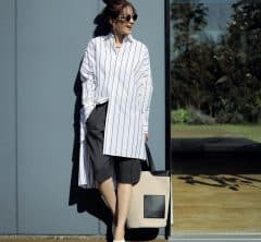 今季のトレンド[ハーフパンツ]はモードな白バレエで大人の着こなしに[5/9 Sun]