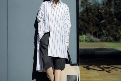 今季のトレンド【ハーフパンツ】はモードな白バレエで大人の着こなしに[5/9 Sun]