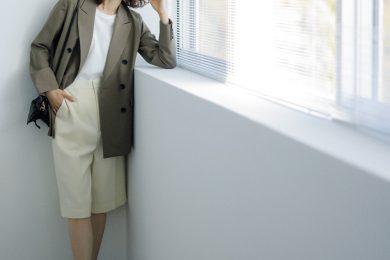 仕事はじめの月曜日は【ハーフパンツ】にジャケットを羽織っていつもの通勤コーデをアップデート![5/17 Mon]