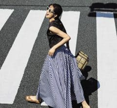 """""""シンプルT × パンチスカート""""で朝の決断いらずな「つくりおきコーデ」!"""