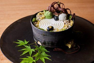 """アマン京都に期間限定で登場した<br>禅庭がモチーフの美しすぎる""""庭パフェ"""""""